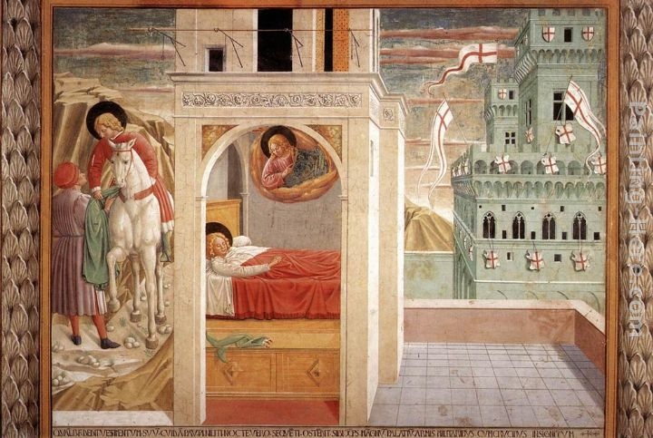 Scenes from the Life of St Francis (Scene 2, north wall) painting - Benozzo di Lese di Sandro Gozzoli Scenes from the Life of St Francis (Scene 2, north wall) art painting